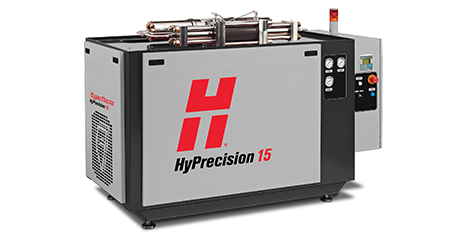 Hypertherm waterjet pump for robot cell